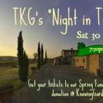 TKG's Spring Fundraiser – April 30th, 2016